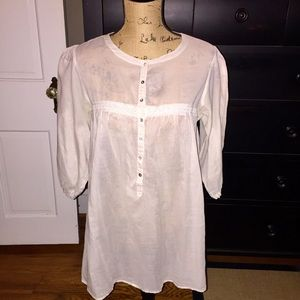 Dainty Zara Sheer Tunic Top